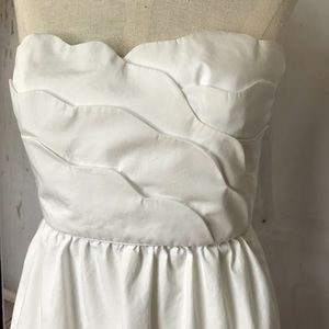 J. CREW white strapless elegant dress